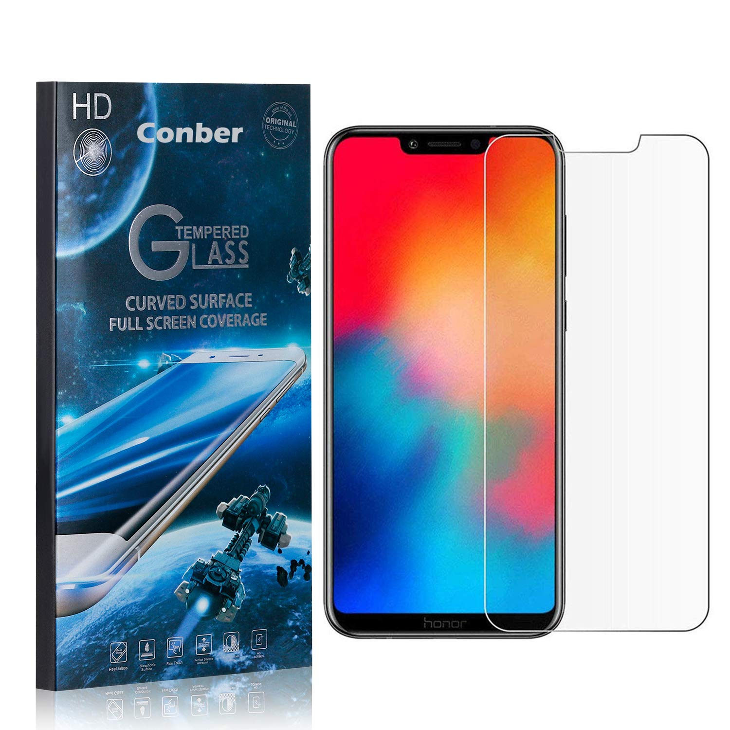Conber 3 Pack Max 57% OFF Screen Protector for Play Scratch Honor Huawei Sale item