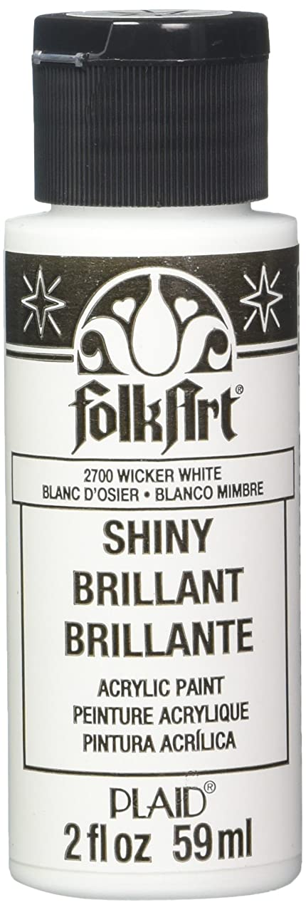 FolkArt Shiny Paint in Assorted Colors (2-Ounce), 2700 Wicker White