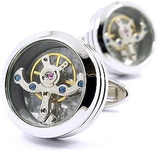 MFYS Jewelry シルバー 時計ムーブメント ラウンドカフス【専用収納ケース付き】