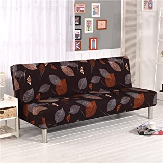 Cornasee Sofa Cover 3 Seater for Armless Sofa/Sofa Bed, Stretchy Floral Couch Slipcover Furniture Protector,Easily Removable and Machine Washable