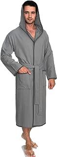 Men's Robe, Cotton Lined Hooded Terry Bathrobe