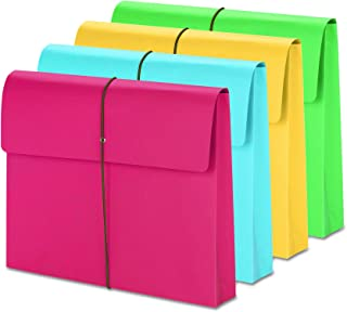 """Smead Expanding File Wallet with Closure, 2"""" Expansion, Closure, Letter Size, Assorted Colors, 50 per Box (77251)"""