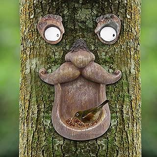 glass yard art bird feeder