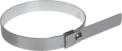 """BAND-IT UL2289 Ultra-Lok 3/4"""" Wide x 0.030"""" Thick, 9"""" Diameter, 201 1/4 Hard Stainless Steel Preformed Clamp (10 Per Box)"""