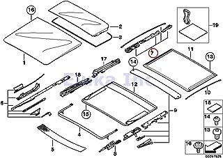 BMW Genuine Panoramic Roof Sunroof Repair Kit For Sunroof Glass Rear X5 3.0i X5 4.4i X5 4.8is 530xi 535xi 325xi 328i 328xi 328i 328xi