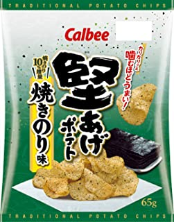 カルビー 堅あげポテト 焼きのり味 65g ×12袋