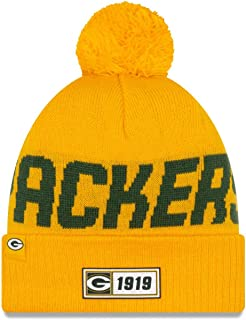 New Era 2019 NFL Green Bay Packers Cuff Knit Hat RV Road Beanie Stocking Cap Pom