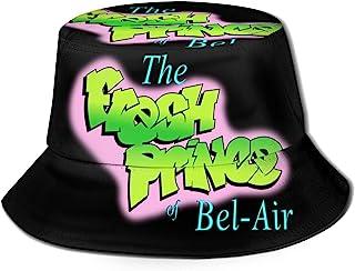 The Fresh Prince of Bel-Air Flat Top Breathable Bucket Hats Unisex Bucket Hat Summer Printing Fisherman's Hat Black