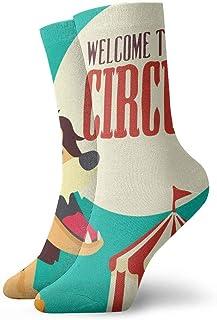 Kevin-Shop, Old Circus Icons Lion Calcetines de compresión Antideslizantes Calcetines Deportivos acogedores de 11.8 Pulgadas para Hombres, Mujeres y niños