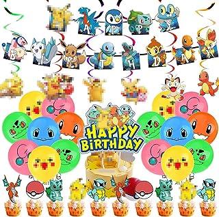 BESTZY Verjaardagsdecoratieset, verjaardagsfeestballonnen voor feestdecoratie, kinderverjaardagsfeest