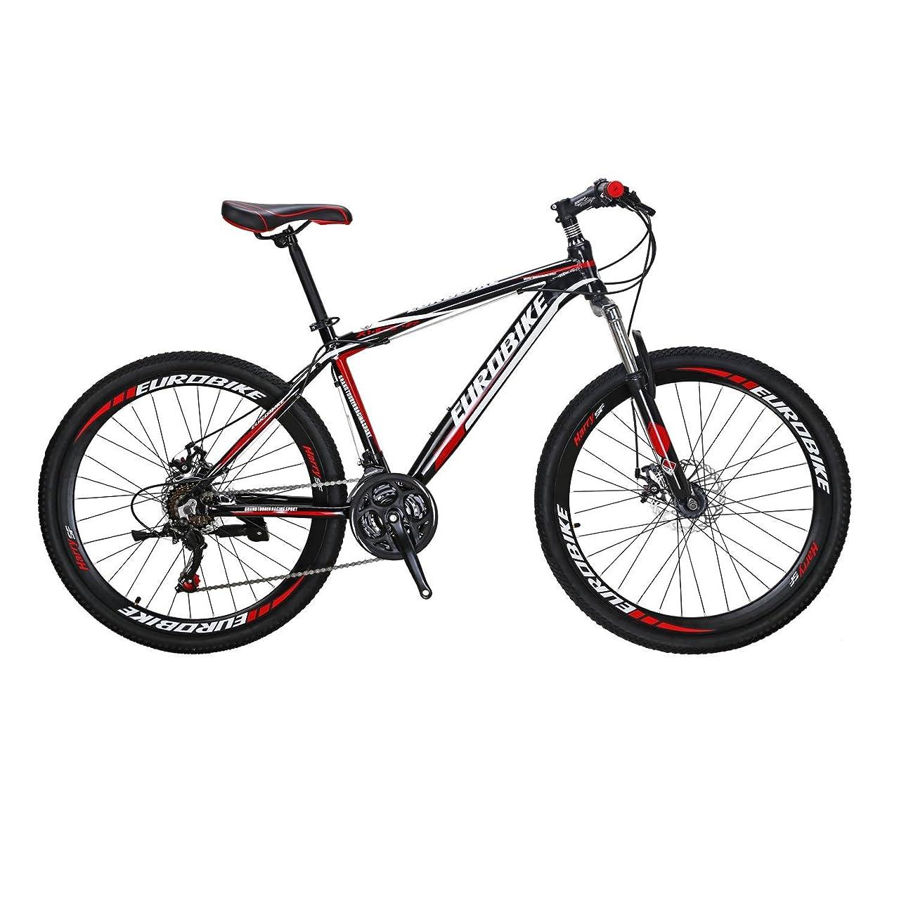 資料休日にアカウントEUROBIKE MTB マウンテンバイク アルミニウム合金 X1-GTR 26インチ 21段変速 前後ディスクブレーキ ハードテイル 軽量 通勤 通学 自転車