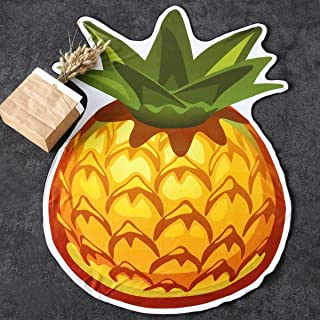 Sleepwish Pineapple Shaped Beach Towel Tropical Fruit Outdoor Picnic Mat Vivid Color Soft Terry Cloth Bath Pool Towels 55x73 in