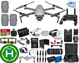 $2047 » DJI Mavic 2 Pro 3 Battery (Total) MEGA Accessory Bundle with Aluminum Case, Drone Vest, 32GB Micro SD, VR Goggles, Charging Hub, Filter Kit, Landing Pad + Much More
