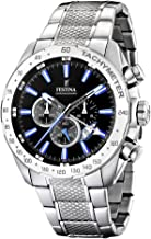 Festina Men`s F16488/3 Silver Stainless-Steel Quartz Watch with Black Dial