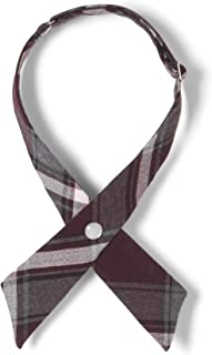 Girls' Plaid Adjustable Cross Tie