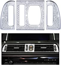 1797 Compatible AC Vents Caps for BMW Accessories Parts Bling Air Conditioning Knob Covers Decals Interior Decorations 5 5GT 6 M6 Series F10 G30 G31 F12 G32 F06 iDrive AWD Women Men Crystal Silver