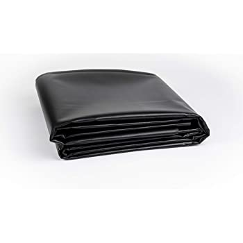 Amazon Com Vinyl Pond Liner 20 Oz 22 Mil Heavy Duty Black Tarp 10 X 10 Garden Outdoor