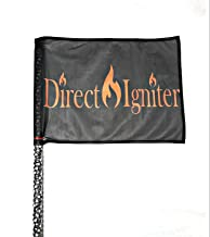 Direct Igniter 4', 5', 6' Wrapped L.E.D. RGBW Safety Flag Whip 20 Colors Over 30 Modes+ Remote RZR CAN-AM Twisted Spiral Whips