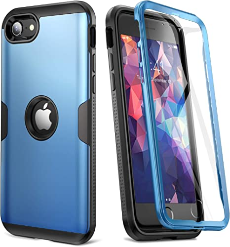 YOUMAKER [ 2021 Upgraded ] for iPhone SE 2020 Case, Full Body Rugged with Built-in Screen Protector Heavy Duty Protec...