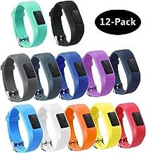 TECKMICO 12PCS Colorful Bands for Garmin Vivofit 3,Garmin Vivofit JR NO Tracker