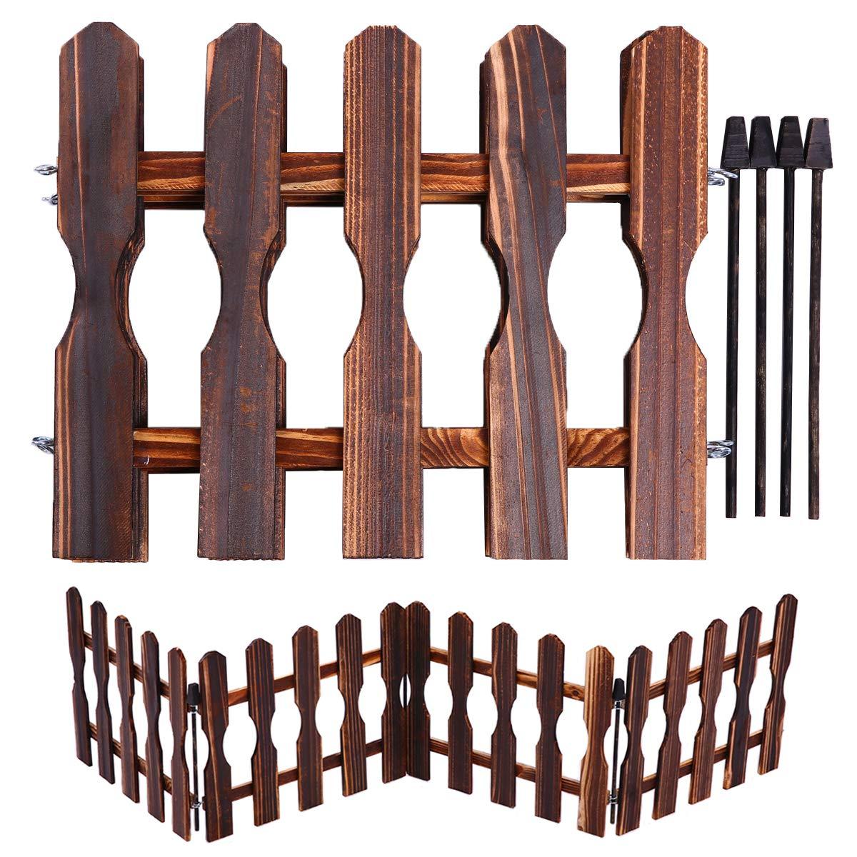 Valla de madera para interior y exterior, de honor, de 120 cm de largo, para decoración