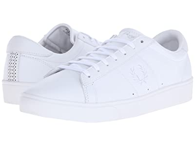 Fred Perry Spencer Leather (White/White) Men