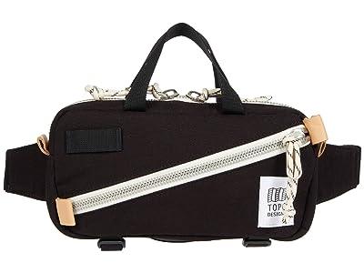 Topo Designs Mini Quick Pack (Black Canvas) Cross Body Handbags