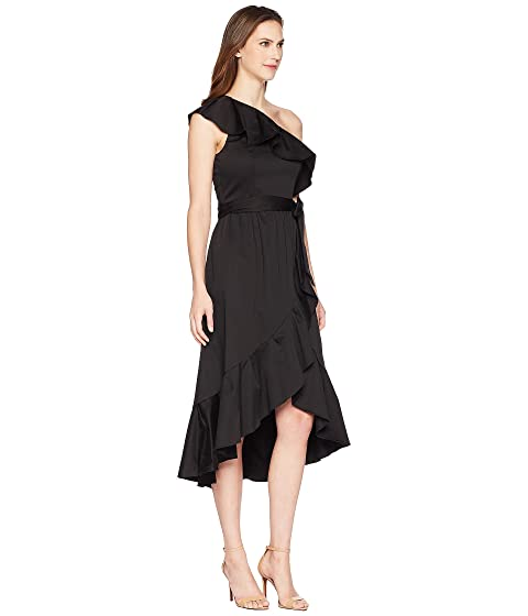 vestido hombro Papell Adrianna del un negro del abrigo HEnqYg