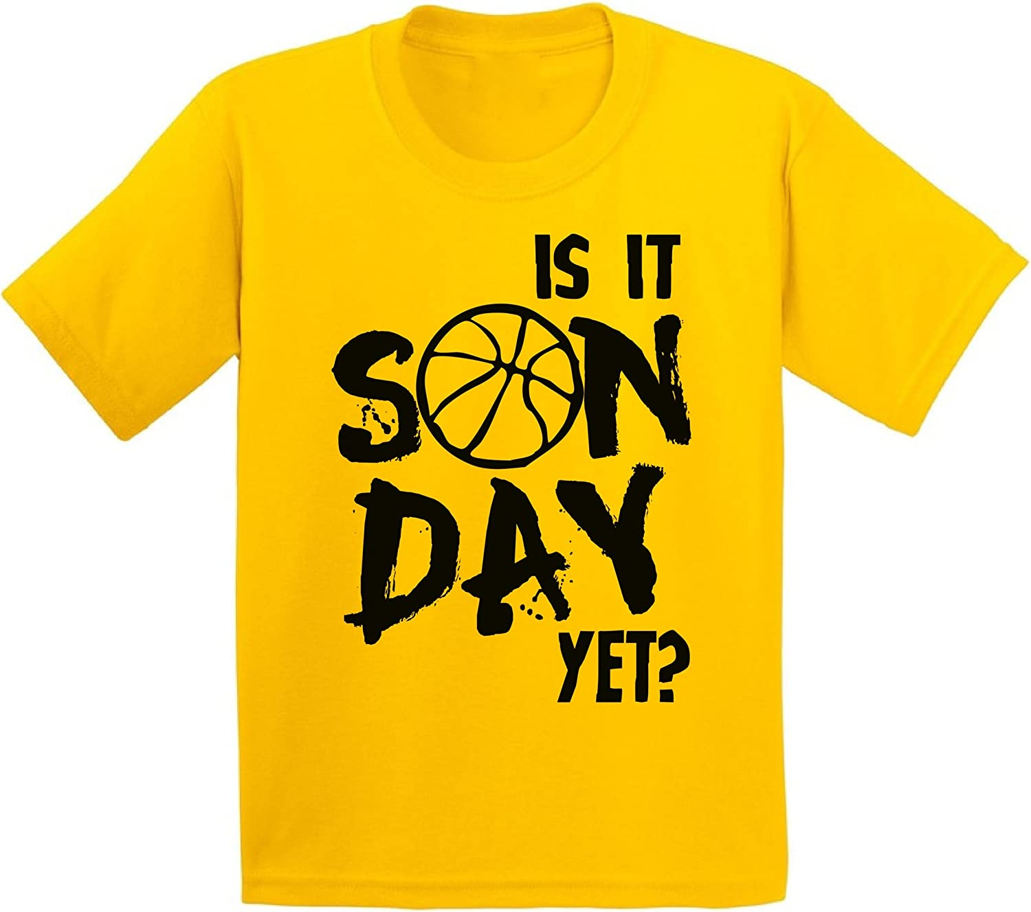 Awkward Styles Youth is It Sunday Yet Basketball Graphic Youth Kids T Shirt Tops