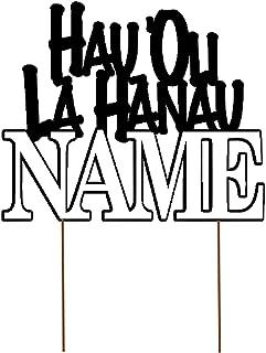 All About Details Personalized Foreign Language HAPPY BIRTHDAY (NAME) Cake Topper (Hawaiian (HAU 'OLI LĀ HĀNAU ) - D2)