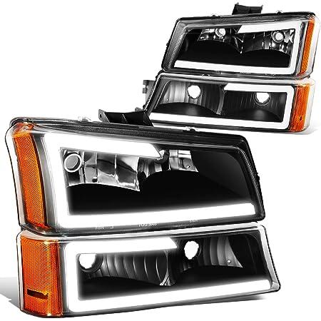 DNA Motoring HL-OH-FSD05-BK-CL1 Headlight Driver /& Passenger Side