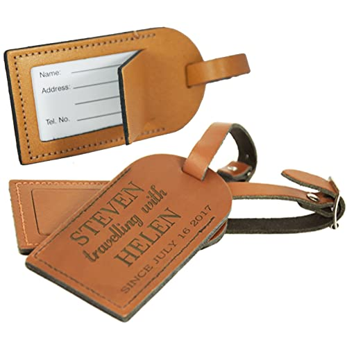 c27274969853 Luggage Tag for suitcases - Personalised Leather- Made in the UK from  Genuine Leather -