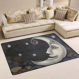 S Husky Large Area Rug for Living Room Mandala India Bohemia Rug Star Moon Soft Baby Children Crawl Mat for Bedroom Classroom Decorative Carpet Floor Mat Play Mat 72 x 48 in 2042695