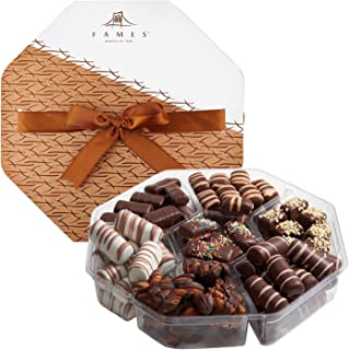 Fames Chocolates Gourmet Gift Box - Finest European Sourced Truffle Chocolate - USA Crafted Caramel, Hazelnut, Nutty, Fudg...