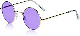 Sunny Pro Retro Round Sunglasses Small Colored Lens Hippie John Lennon Glasses