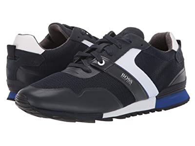 BOSS Hugo Boss Parkour Run Sneakers by BOSS (Dark Blue) Men