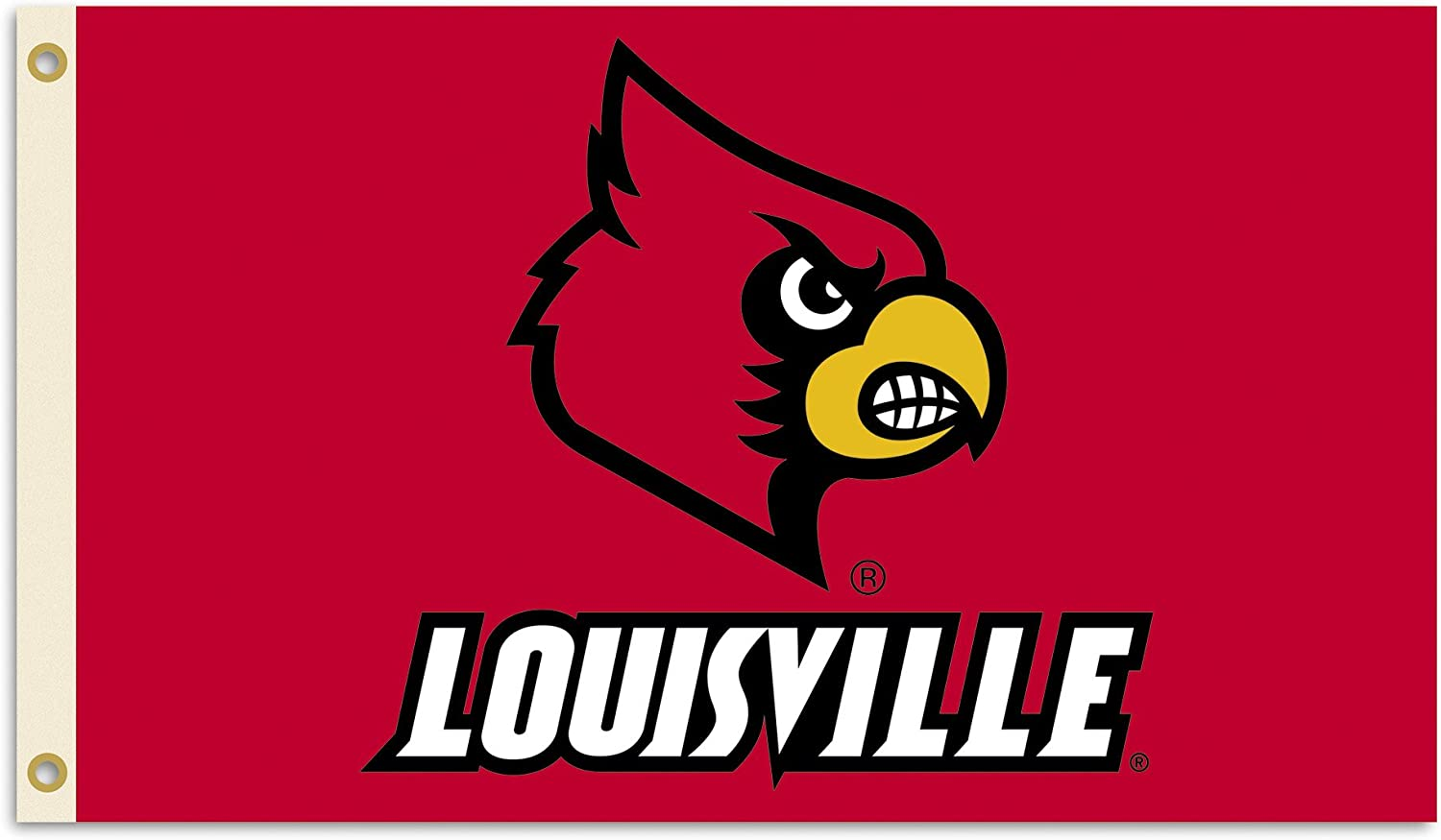 BSI NCAA College Louisville Cardinals 3 5 X Max 71% OFF Foot Popular product Flag Gromm with