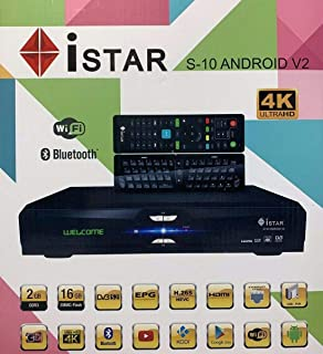 Istar Korea S10 V2 Android Arabic Kurdish Turkish Persian Indian English Language Channels Istar Receiver Box Over 3200 World Programs with Free Code for 1 Year الرياضة ، الأطفال ، قنوات الكبار