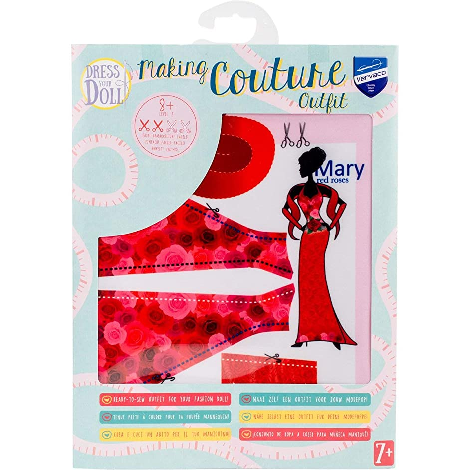 Vervaco PN-0164647 Dress Your Doll Making Couture Outfit Set
