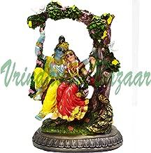 VRINDAVANBAZAAR.COM Radha Krishna Murti On Swing-Hindu God and Goddess Idol/Statue/Murti/Figurine Resin Statue/Height= 6.5 inches