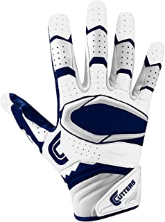 Cutters Gloves Rev Pro 2.0 Receiver Football Gloves, White/Navy, Small