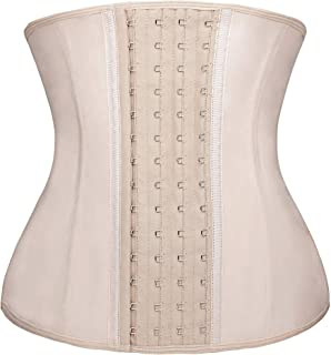 SHAPERX Womens Waist Trainer for Weight Loss Latex Steel Boned Corset Cincher Shaper