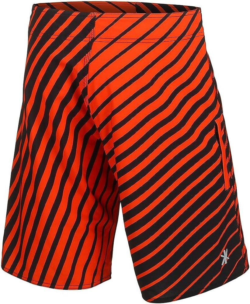 FOCO MLB Mens Stripes Poly Board Shorts