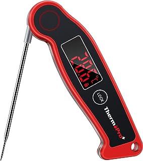ThermoPro TP19 Digitales Profi Einstichthermometer Thermoelement-Thermometer Grill-Bratenthermometer IPX67 Wasserdicht Fleischthermometer Küchenthermometer mit Magnethalterung für Braten, Wein, BBQ
