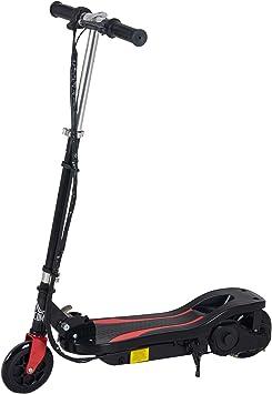 HOMCOM Patinete Eléctrico Altura Ajustable Scooter Eléctrico Plegable con Interruptor de Arranque Freno de Manillar Izquierdo Soporta hasta 50 kg ...