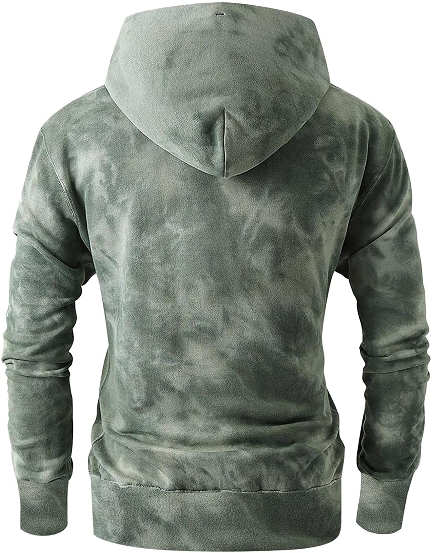 Men Hoodies Athletic Sport Sweaters Blend Fleece Hoodie with Pocket Contrast Raglan Long Sleeve Men's Sweatshirts