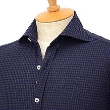 [Giannetto【ジャンネット】]ジャージーチェックシャツ VINCIFIT 92031186370V81 005 コットン ネイビー