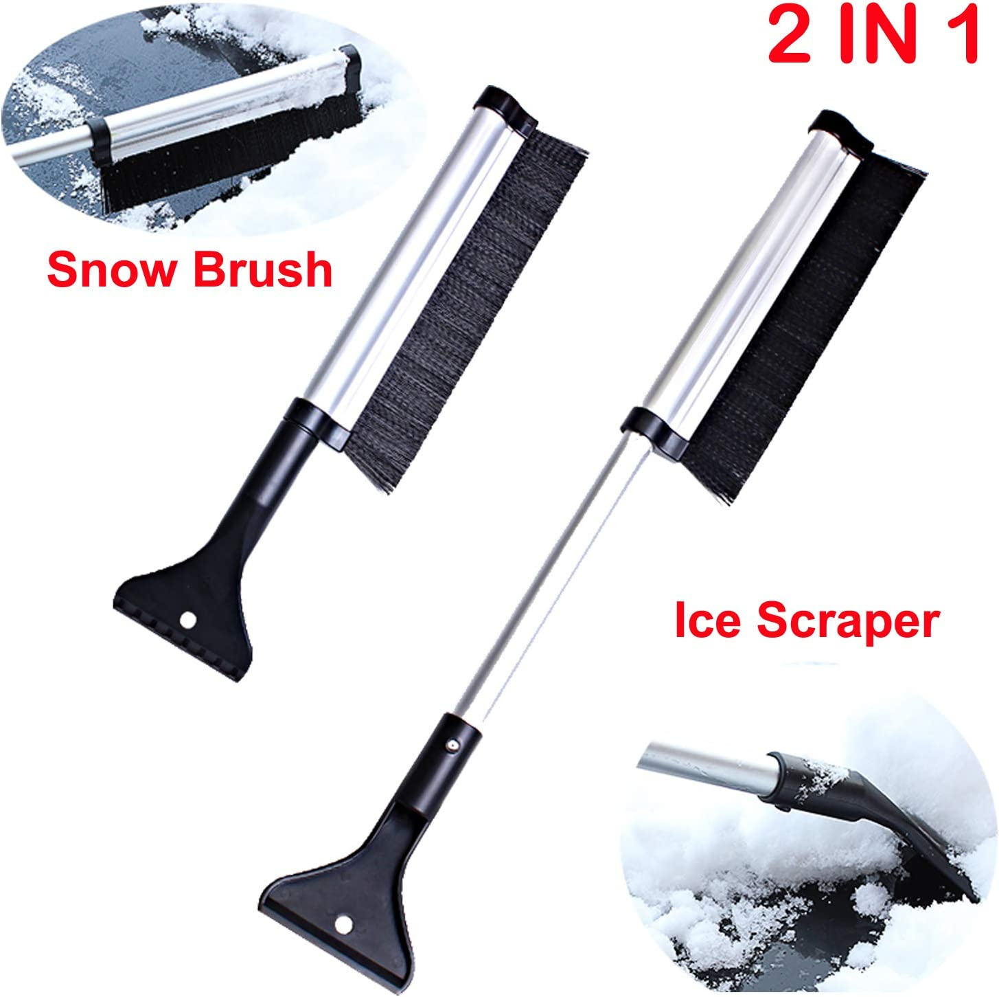 Max 40% OFF AUTENS Extended Trust Telescopic Snow Brush Scraper an Extends and Ice