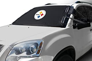 NFL Frost Guard Windshield Cover for Ice and Snow, Pittsburgh Steelers | Standard Size Car Windshield Frost Cover with Mir...