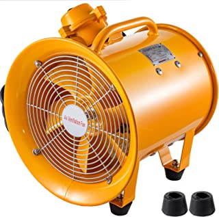 Mophorn ATEX Portable Ventilator Fan 12 Inch(300mm) 550W Explosion Proof Extractor or Ventilator 110V 60HZ Speed 3450 RPM for Extraction and Ventilation in Potentially Explosive Environments
